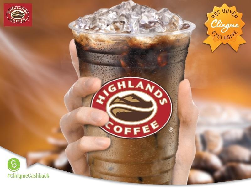Clingme - Ưu đãi 30% Highlands Coffee